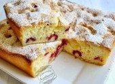 Gâteau léger aux framboises :-P